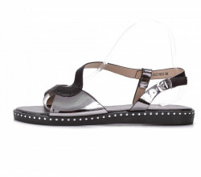 Ravne sandale LS021903 crne