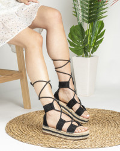 Sandale na debelom djonu LS020123 crne