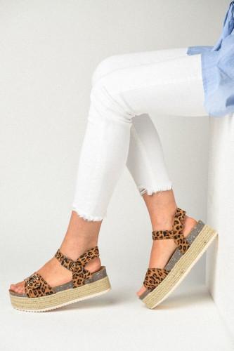 Sandale na debelom đonu LS791906 leopard