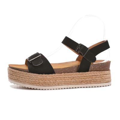 Sandale na debelom đonu LS79803 crne