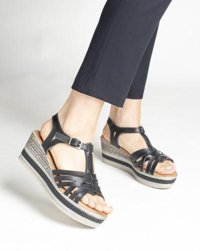 Sandale na debelom đonu S404 crne