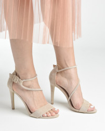 Sandale na štiklu LS242027 bež