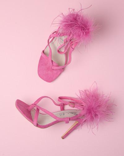 Sandale na štiklu LS242120 pink
