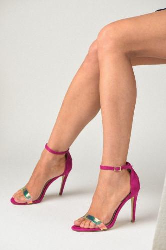 Sandale na štiklu S2503 roze
