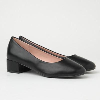 Ženske cipele na malu petu WL3090 crne