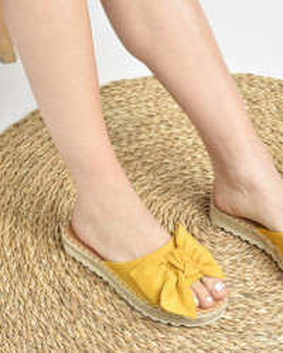 Ženske papuče na debelom đonu LP212026 žute