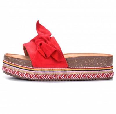Ženske papuče na debelom đonu LP781903 crvene