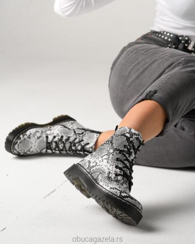 Ženske poluduboke čizme CA528-5 zmijski dezen