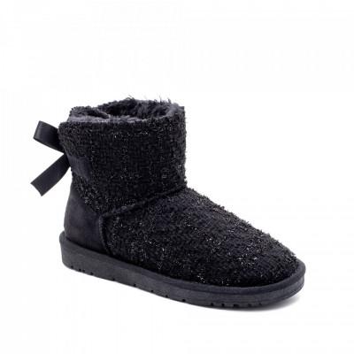 Ženske poluduboke čizme LH051253 crne (veliki brojevi)