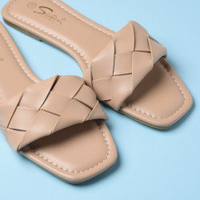 Ženske ravne papuče LP022115 bež