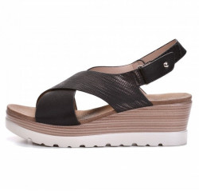 Ženske sandale na debelom djonu LS061924 crne