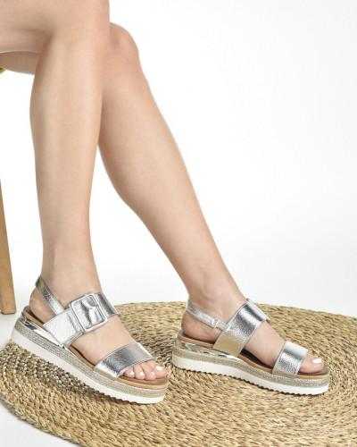 Ženske sandale na debelom djonu LS212008 srebrne