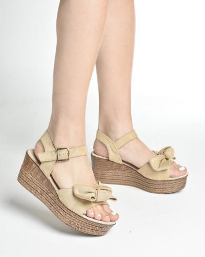Ženske sandale na debelom djonu LS242058 bež