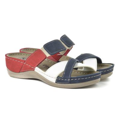 Anatomske papuče 103/1 teget-belo-crveno