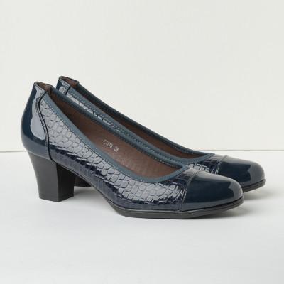 Cipele na štiklu C1716 teget