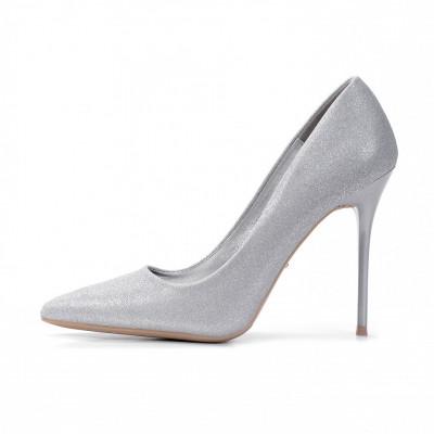 Cipele na štiklu L241901 srebrne