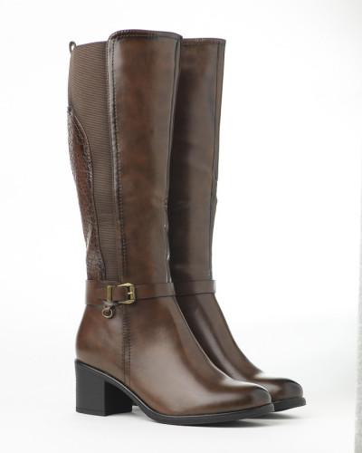 Duboke ženske čizme LX601926 braon