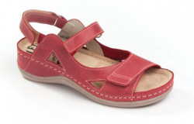 Kožne anatomske sandale 435 crvene