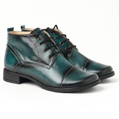 Kožne duboke cipele 2-901 zelene