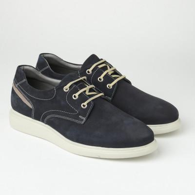 Kožne muške cipele 21211-1 teget
