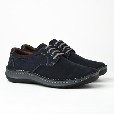 Kožne muške cipele 9554 teget