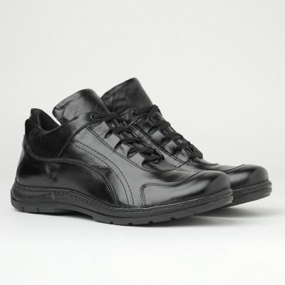 Kožne muške cipele Gazela 949-01 crne