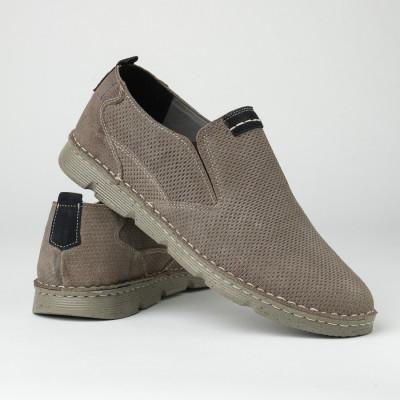 Kožne muške cipele/mokasine 2819 sive