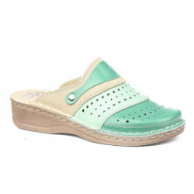 Kožne papuče 670 zelene