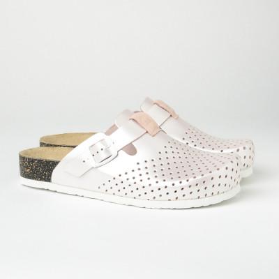 Kožne papuče/klompe 1250 sedef