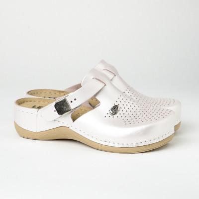 Kožne papuče/klompe 900 sedef