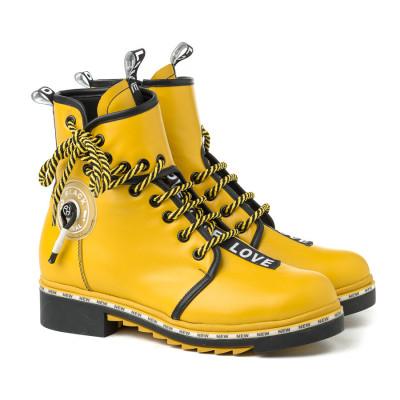 Kožne poluduboke čizme A1-10 žute