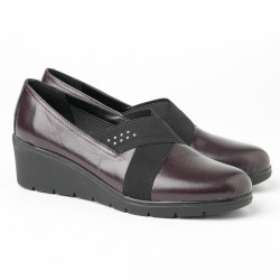 Kožne ženske cipele 664110 bordo