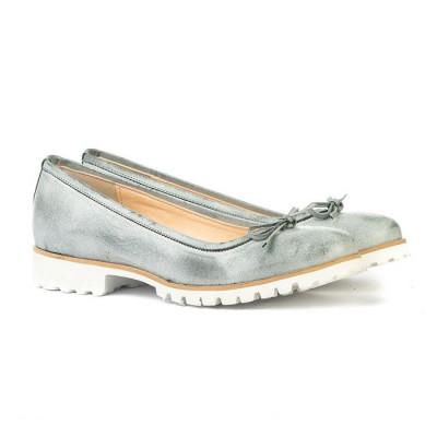 Kožne ženske cipele S208 svetlo plave