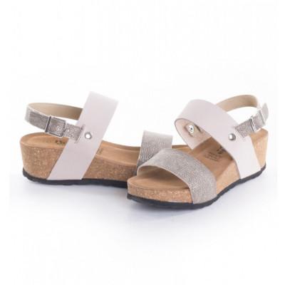 Kožne ženske sandale K1228 bež