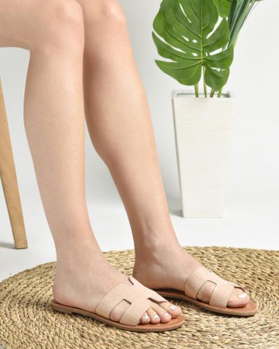 Ravne papuče P81 bež