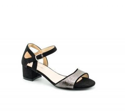 Sandale na malu štiklu LS90616 crne