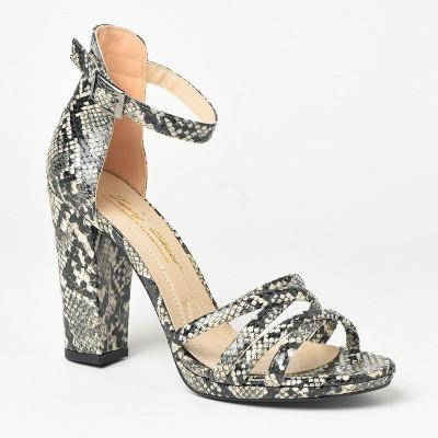 Sandale na štiklu 513 zmija