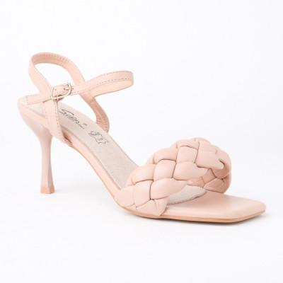 Sandale na štiklu LS042100 bež