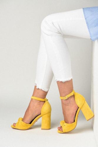 Sandale na štiklu LS241911 žute