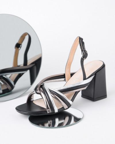 Sandale na štiklu LS762111 crne