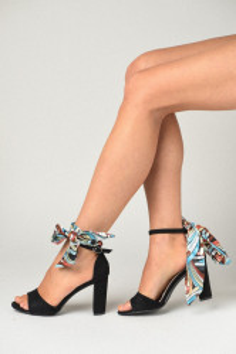 Sandale na štiklu LS91365 crne