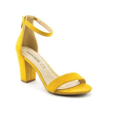 Sandale na štiklu LS91557 žute
