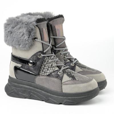 Tople čizme A405 sive