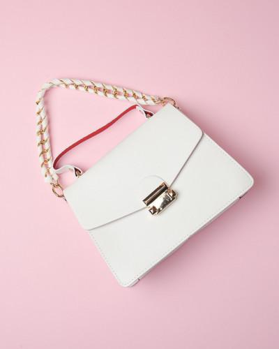 Ženska mala torbica bela