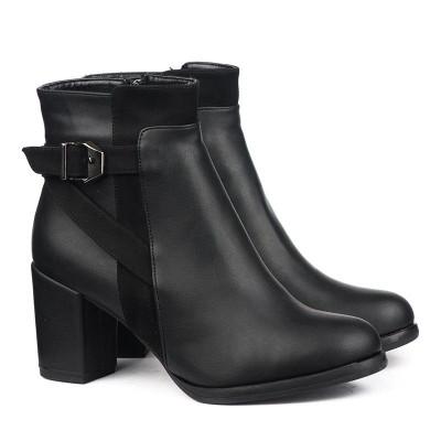 Ženske poluduboke čizme 185 crne