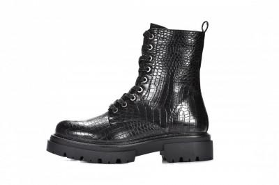 Ženske poluduboke čizme LH562018 crne kroko