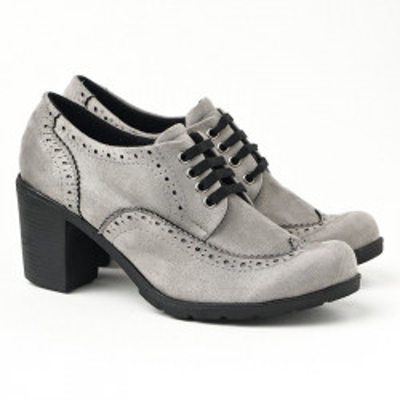 Jesenje cipele na petu 2360-843 sive