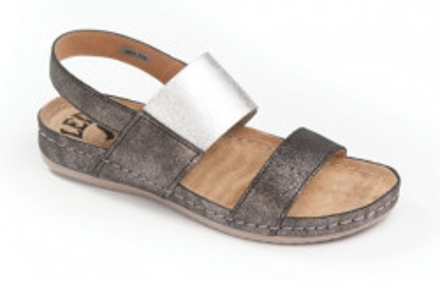Kožne anatomske sandale 730 tamno sive