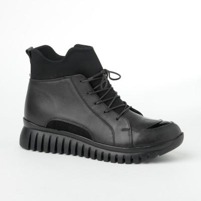 Kožne poluduboke cipele 510 crne