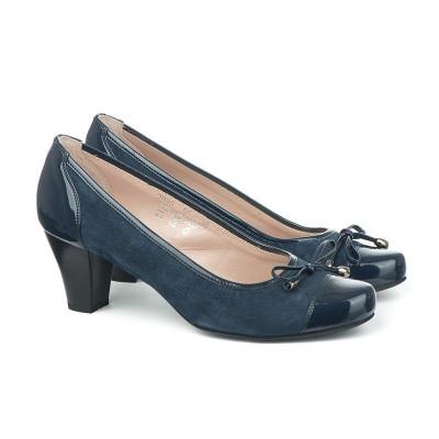 Kožne ženske cipele 2985 teget